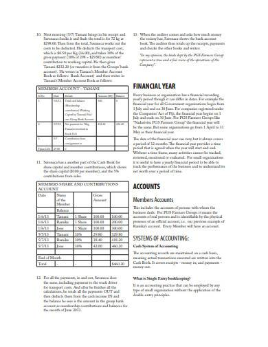 sample account bookkeeping template