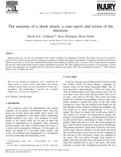 sample anatomy of a shark attack case report