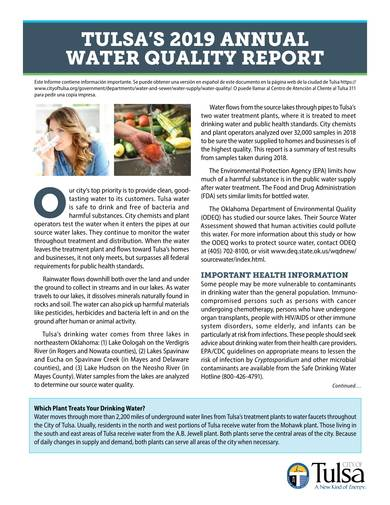 sample annual water quality report