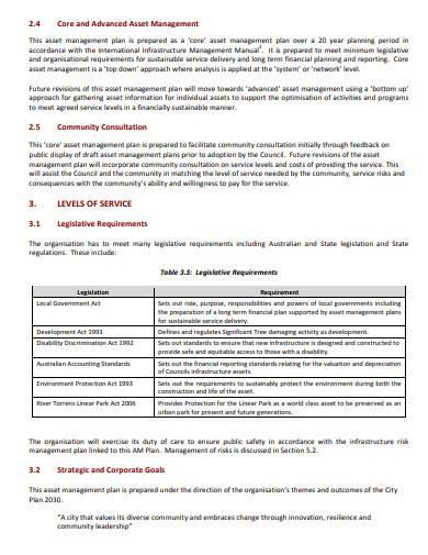 sample asset management plan template