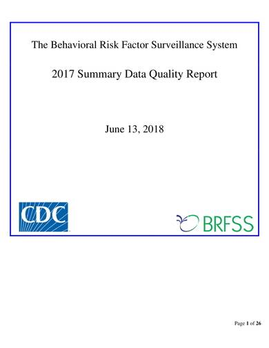 sample behavioral risk factor surveillance system summary data quality report
