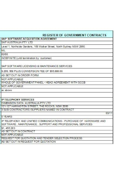 sample contract agreement in excel