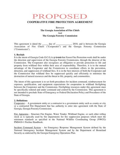 sample cooperative fire protection agreement