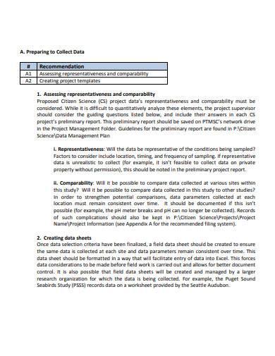 sample data management plan template