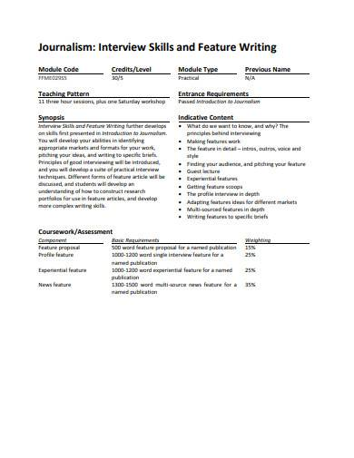 sample feature writing template