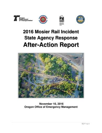 sample incident after action report