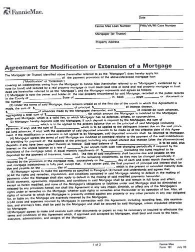 sample mortage modification or renewal agreement