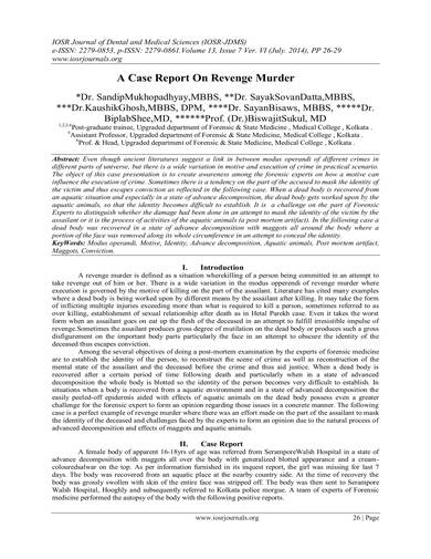 sample murder case report