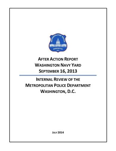 sample navy yard after action report