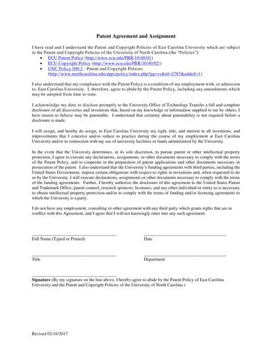 sample patent agreement and assignment