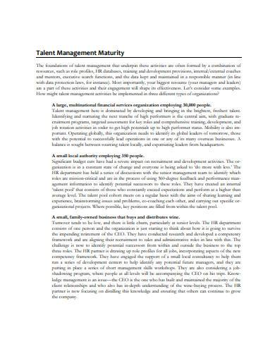 sample talent management strategy template