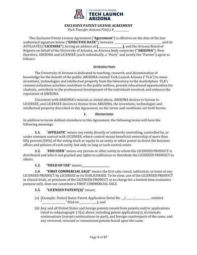 sample patent agreement