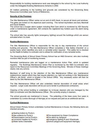 school asset management plan template