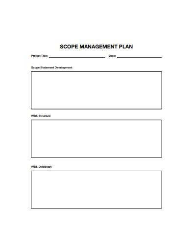 scope management plan template