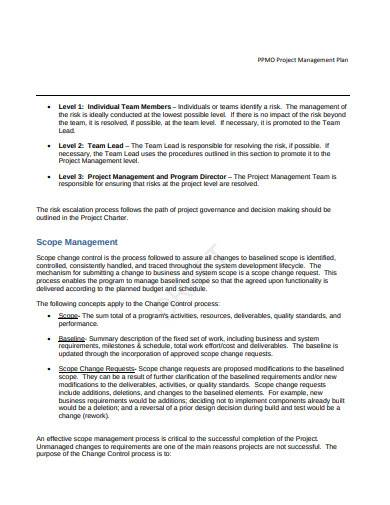 scope management plan in pdf