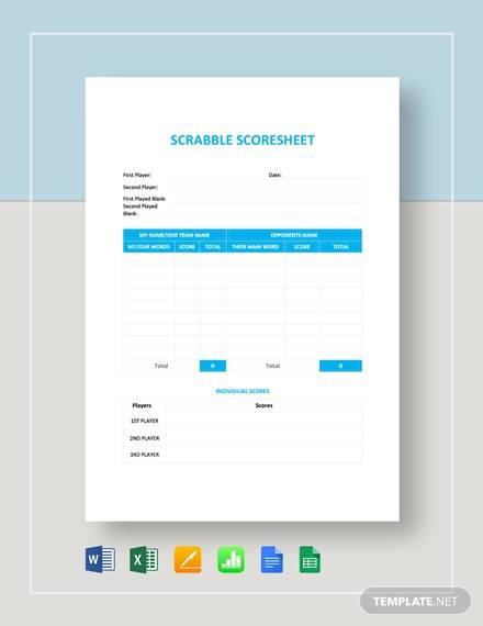 scrabble score sheet template
