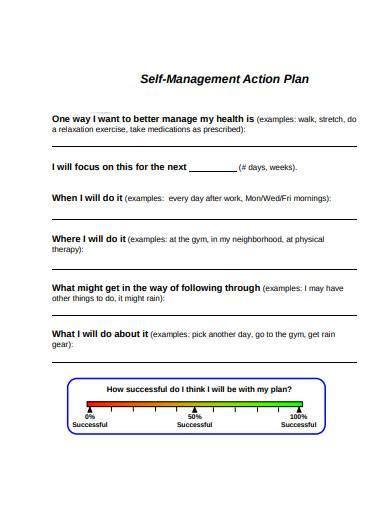 self management action plan
