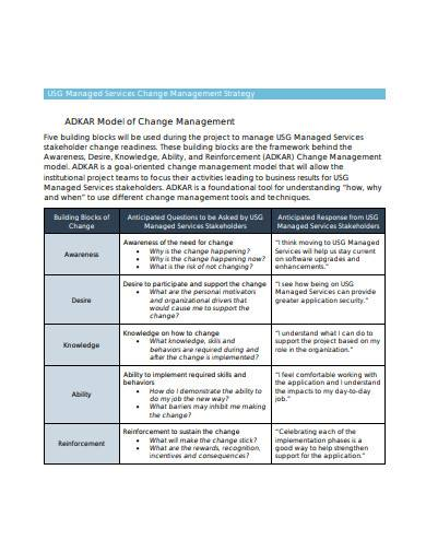 services change management strategy