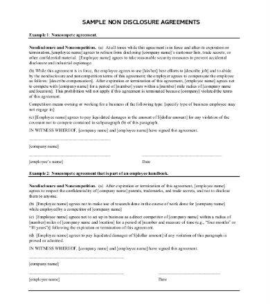 simple 1 page non disclosure agreement sample