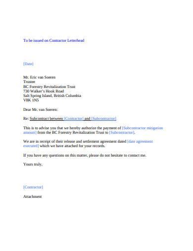 standard contractor letterhead