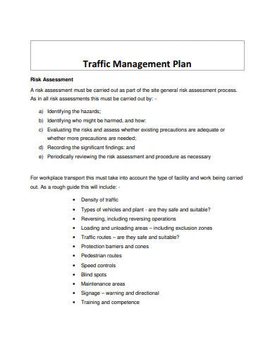 standard traffic management plan