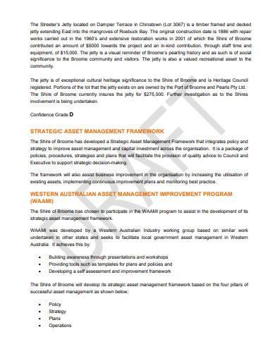 strategic asset management plan sample
