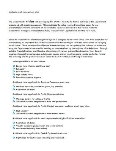 strategic asset management plan template