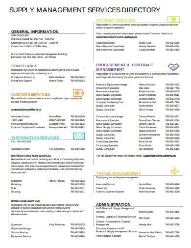 supply management services directory