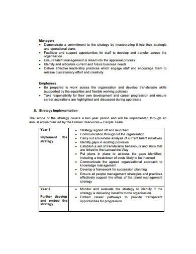 talent management strategy in pdf