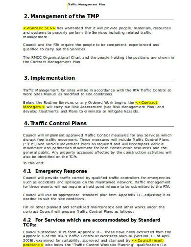 traffic management plan in doc