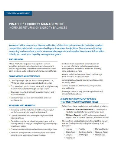 treasury liquidity management
