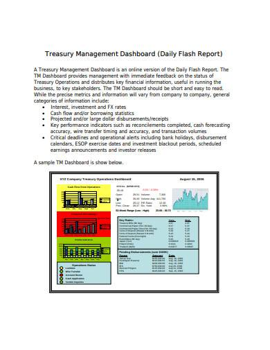 treasury management daily report