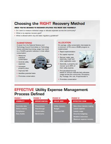 utility expense management in pdf