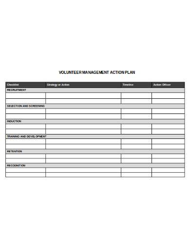 volunteer management action plan