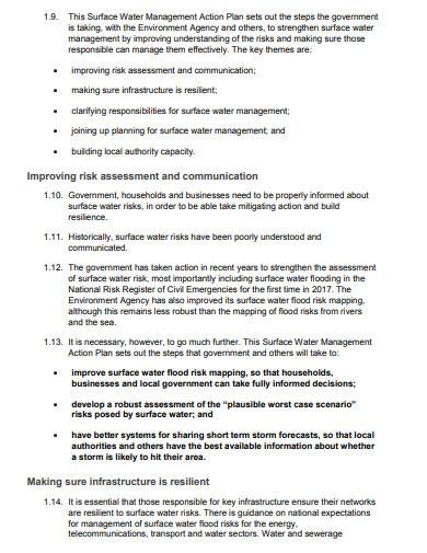 water management action plan