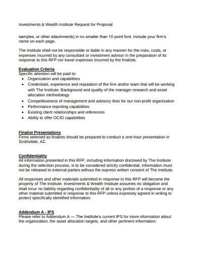 wealth investment management proposal