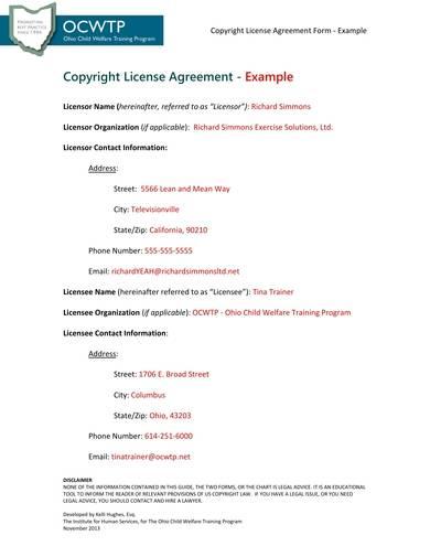9 Free Sample Copyright Agreements Pdf