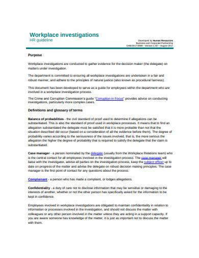 workplace investigation in pdf