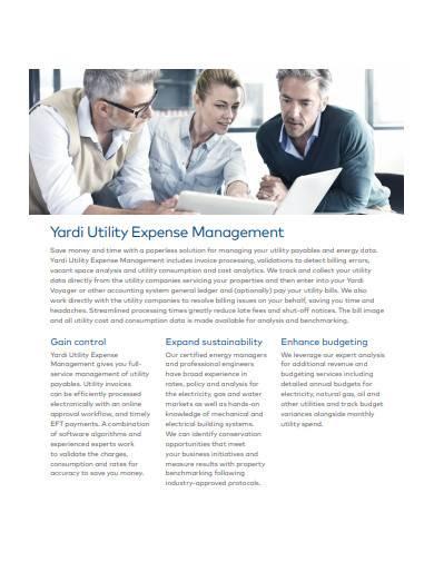 yardi utility expense management sample