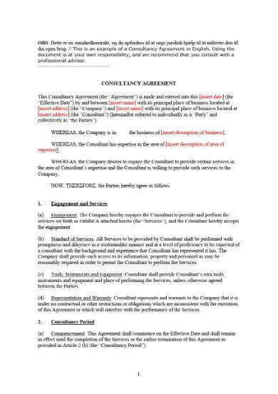 5 page consulting proposal template in doc