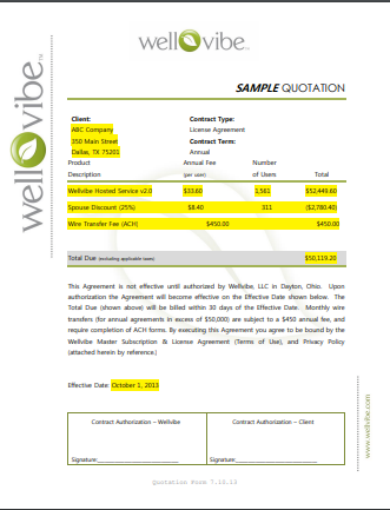 advertising quotation format template