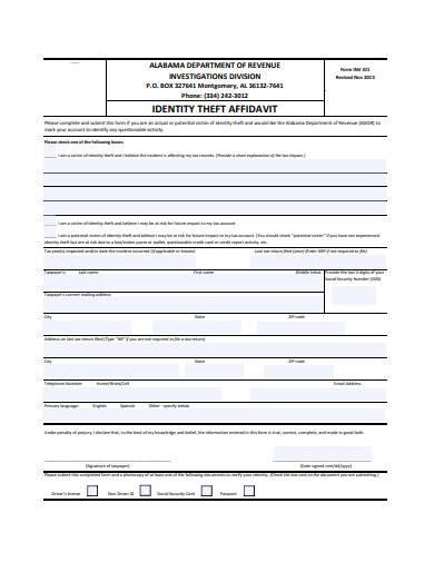 affidavit of identity theft in pdf