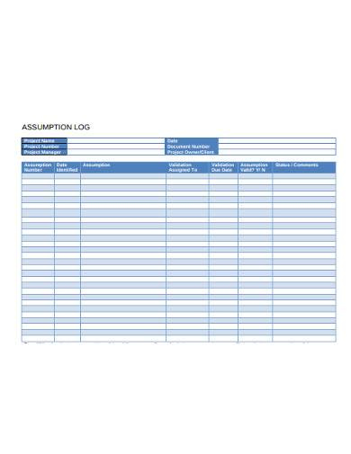assumption log sample