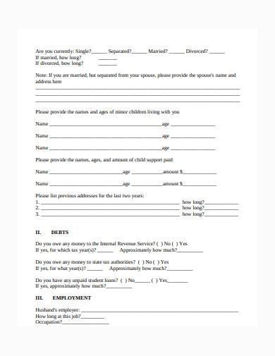 bankruptcy intake sheet in pdf