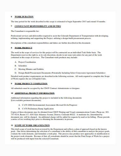 basic consultant scope of work template