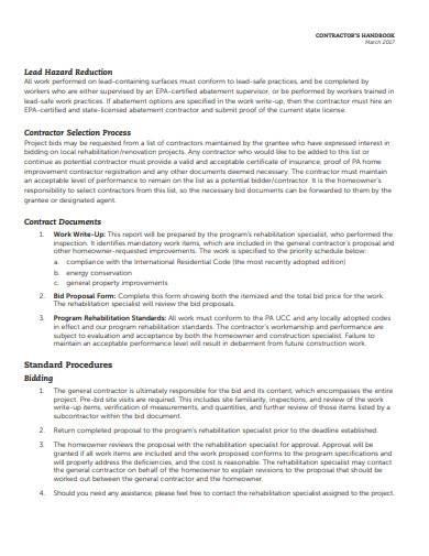 basic contractor handbook