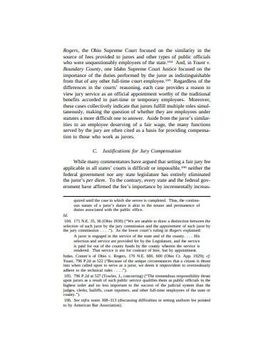 basic juror reimbursement claim sample