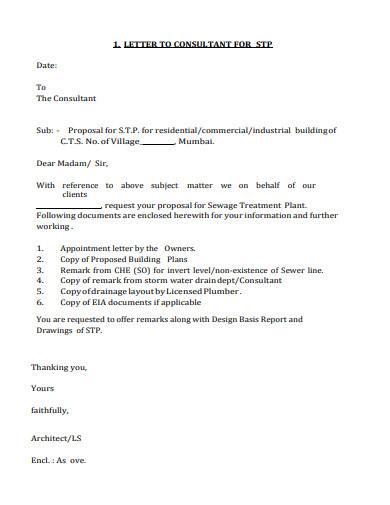 basic letter of consultant