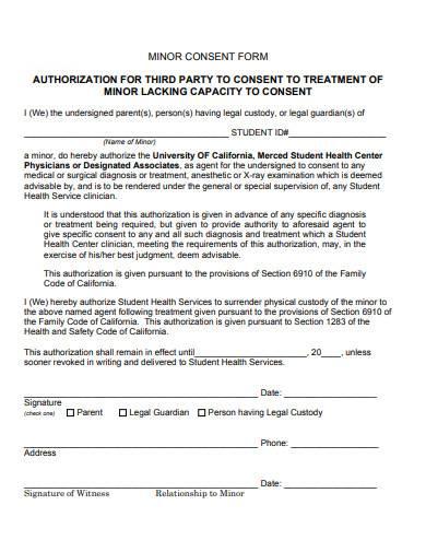 basic minor medical treatment authorization