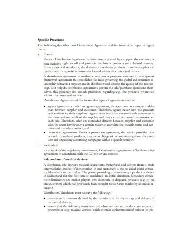 basic non exclusive distribution agreement